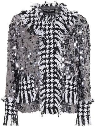 Dolce & Gabbana Sequined houndstooth jacket