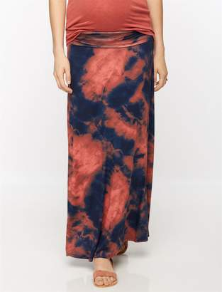 A Pea in the Pod Self Belly Tie Dye Maxi Maternity Skirt