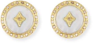 Armenta Old World 18k Enamel Diamond Star Stud Earrings