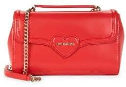 Love Moschino Heart Faux Leather Shoulder Bag