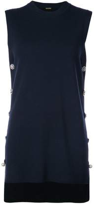 ADAM by Adam Lippes embellished panelled mini dress
