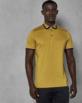 Ted Baker GUMMY Contrast trim cotton polo shirt