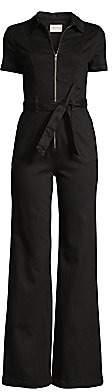 Alice + Olivia Jeans Jeans Women's Gorgeous Short-Sleeve Flare Zip Jumpsuit