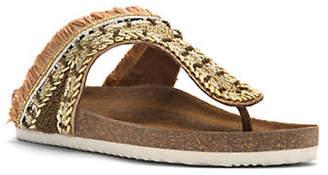 Sam Edelman Olivie Embellished Satin Thong Sandals