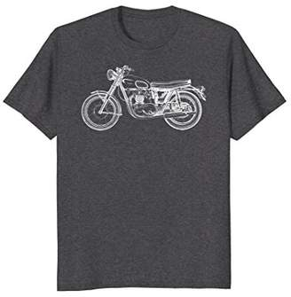 Vintage Motorcycle Motor Bike Sketch T-shirt