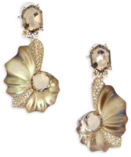 Alexis Bittar Lucite Crystal Shell Clip-On Earrings