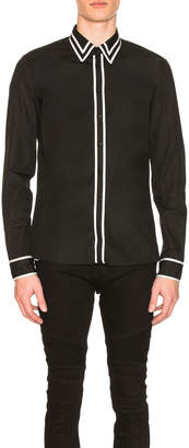 Balmain Long Sleeve Ribbon Shirt