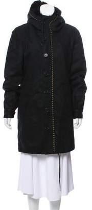 Antik Batik Fur-Trimmed Knee-Length Coat