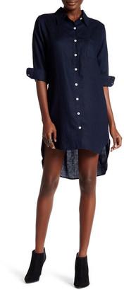 Allen Allen Linen Shirt Dress $148 thestylecure.com