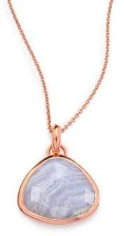 Monica Vinader Siren Blue Lace Agate Pendant