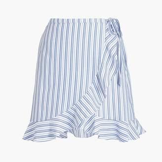 J.Crew Textured stripe faux-wrap mini skirt