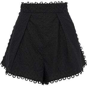 Zimmermann Melody Pleated Linen And Cotton-blend Shorts