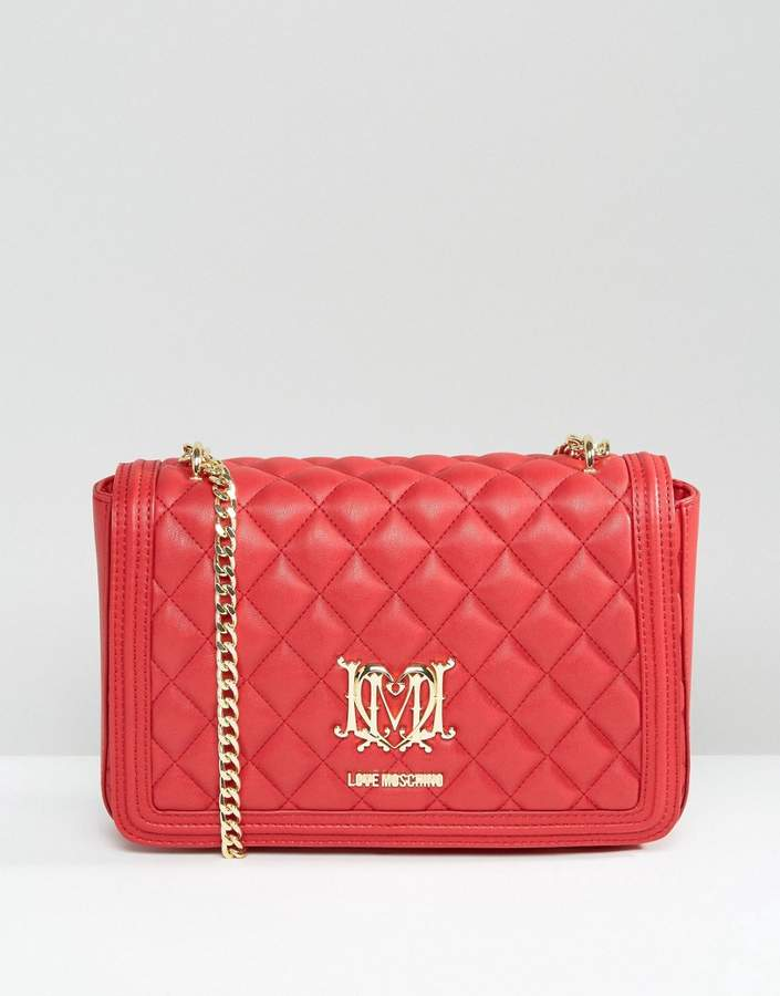 Love MoschinoLove Moschino Quilted Shoulder Bag With Chain