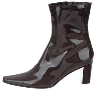 Aquatalia Patent Leather Mid-Calf Boots