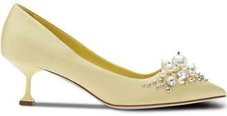 Miu Miu embellished pointed toe pumps