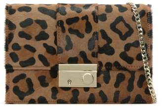Daniel Ahand Leopard Calf Hair Push Lock Shoulder Bag