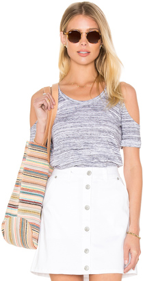 C & C California Riki Cold Shoulder Tee $68 thestylecure.com