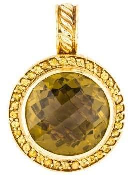 David Yurman 18K Citrine & Yellow Sapphire Pendant