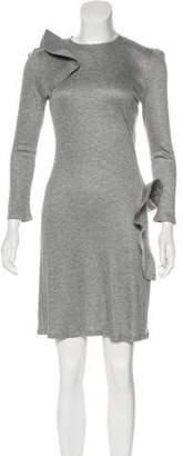 Alexander McQueen Ruffle-Trimmed Jersey Dress