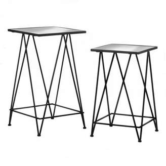 Accent Plus MODERN SQUARE GLASS TABLES