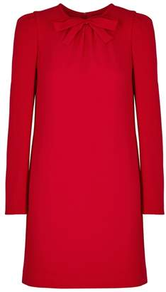 Paule Ka Bow Red Crepe Dress
