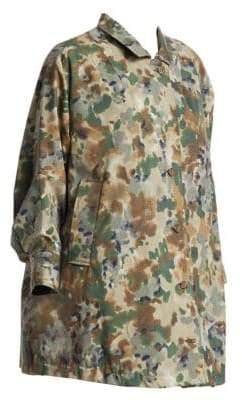 Rachel Comey Zia Oversized Camo Print Trench Coat