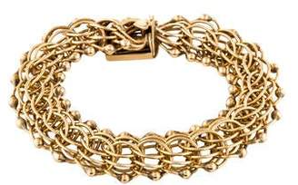14K Interlocking Link Bracelet