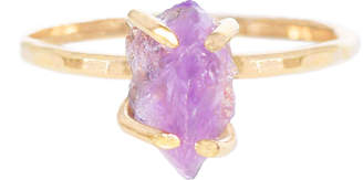 Sara Reynolds Jewelry 14k Gold Rough Amethyst Ring