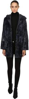 Drome Hooded Reversible Fur Coat