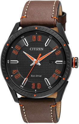 Citizen Drive from Eco-Drive Men's Brown Leather Strap Watch 42mm BM6995-19E