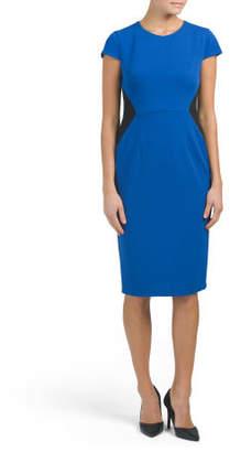 Short Sleeve Sheath Midi Dress