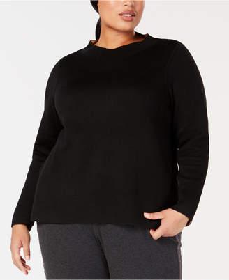 Eileen Fisher Plus Size Funnel-Neck Sweater