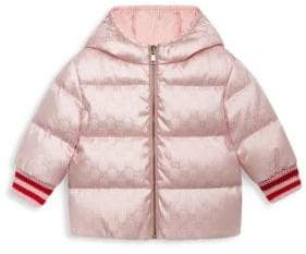 Gucci Baby Girls' Reversible Blouson Puffer Coat