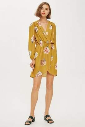 Love Womens **Floral Long Sleeve Wrap Dress