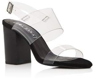 Sol Sana Women's Mavis Transparent Strap Block Heel Sandals