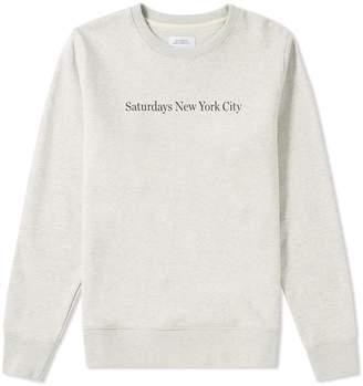 Saturdays NYC Saturdays Bowery Print Sweat