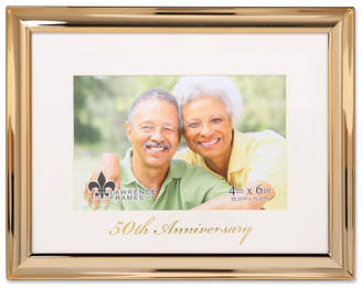 "Lawrence Frames Gold Metal Picture Frame - 50Th Anniversary - 4""X6"""