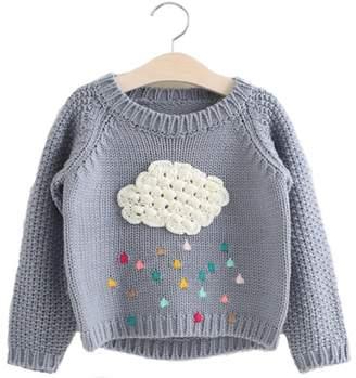 Sweater Zulaniu Cartoon Cloud Long Sleeve Outerwear O-neck Kids Knitwear Top