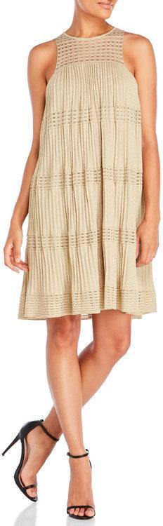 m missoni Sleeveless Plisse Knit Swing Dress