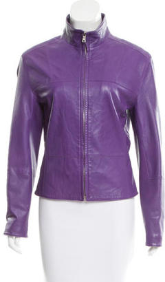 Andrew Marc Leather Zip-Up Jacket $195 thestylecure.com