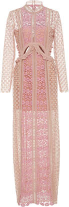 Self Portrait Payne Ruffle-Trimmed Lace Maxi Dress $680 thestylecure.com