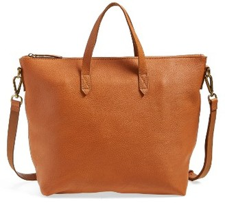 Madewell Leather Transport Satchel - Brown $188 thestylecure.com
