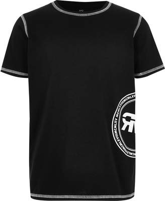 River Island Mens Boys Black printed T-shirt
