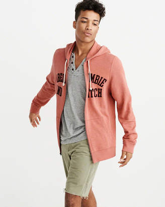 Abercrombie & Fitch Logo Graphic Full-Zip Hoodie