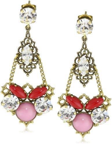 Anton Heunis Chandelier Crystal Drop Earrings