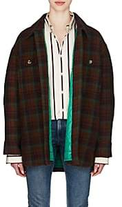Isabel Marant Women's Harvey Plaid Wool Flannel Coat - Brown