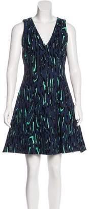 Proenza Schouler Velvet-Accented A-Line Dress