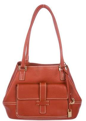 Loro Piana Leather Globe Shoulder Bag