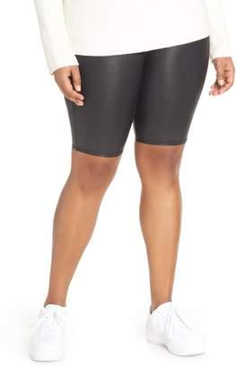 Spanx R) Faux Leather Bike Shorts