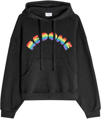 RE/DONE Cotton Hoodie with Rainbow Logo